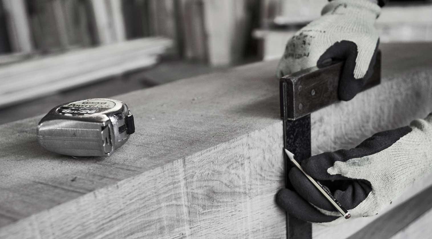 Handcrafted oak frame